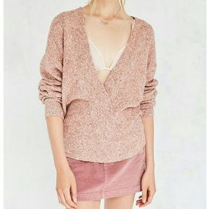 OU Cozy V-neck surplice sweater